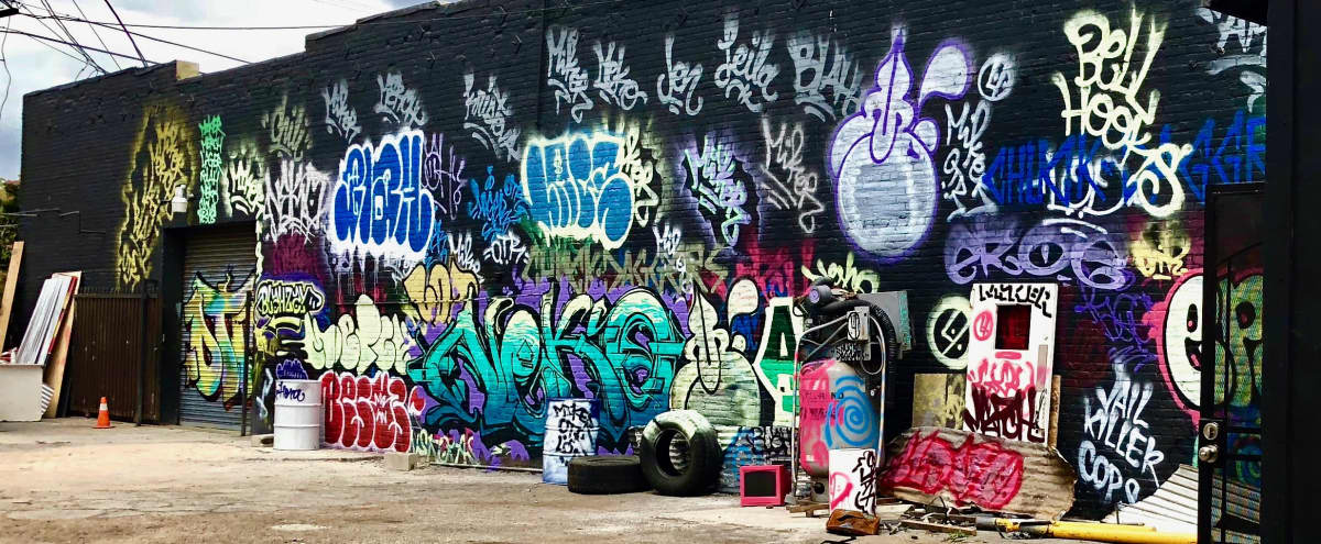 Graffiti + Urban Industrial Warehouse Walls for Filming + Photo in Los Angeles Hero Image in South Los Angeles, Los Angeles, CA