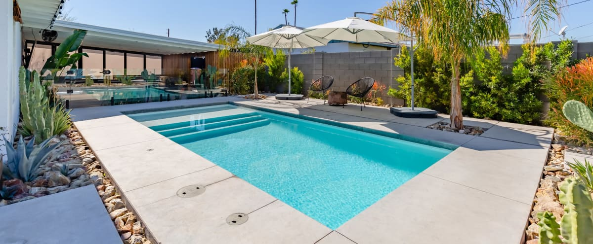 A Modern Desert Pool Oasis with Local art in Scottsdale Hero Image in Mereway Manor, Scottsdale, AZ