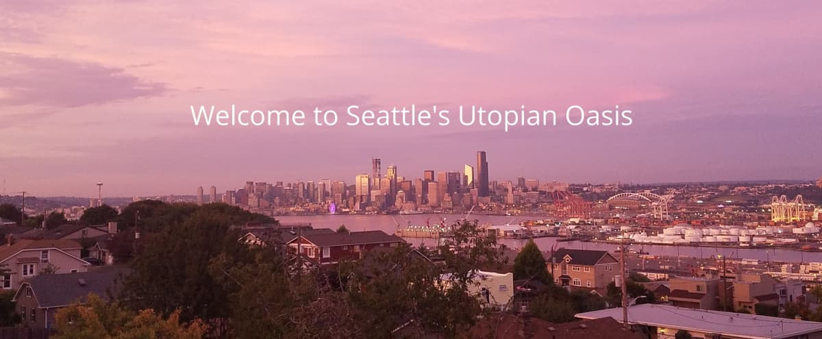 West Seattle Stunner!  Unobstructed Views from Space Needle to Mt. Rainier - Perfect Spot for Gatherings, Film and Photo Shoots - Only a 2 hour Minimum! in SEATTLE Hero Image in North Admiral, SEATTLE, WA