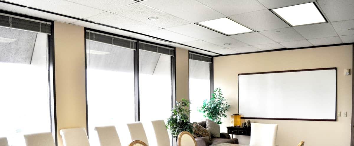 Luxury Conference Room located near Galleria with Houston Skyline in Houston Hero Image in Sharpstown, Houston, TX