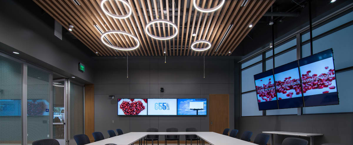 Smart & Sleek Conference Boardroom - Edison in San Diego Hero Image in Marina, San Diego, CA
