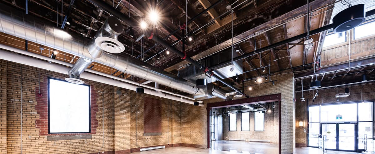 Open Layout - Industrial Space w/ Exposed Brick - North of the Junction in Toronto Hero Image in Harwood, Toronto, ON