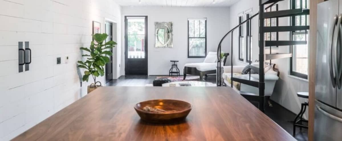 Rustic Modern Remodeled bungalow near downtown. Good light and original wood features. in Austin Hero Image in South River City, Austin, TX