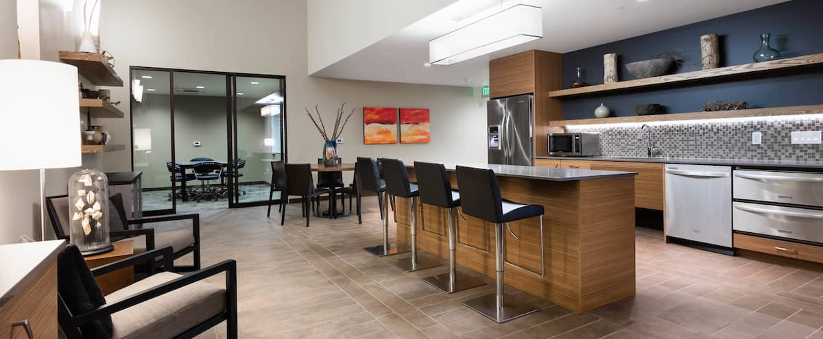 Elegant Lounge - Semi-Private, with Conference Room in Redmond Hero Image in Downtown, Redmond, WA