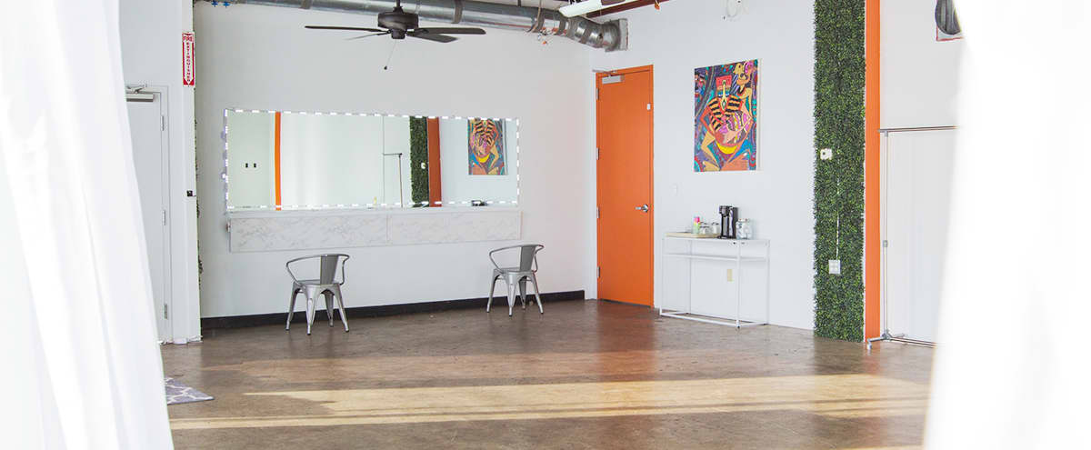 Event Space Loft with Outdoor Terrace in East Point Hero Image in Downtown, East Point, GA