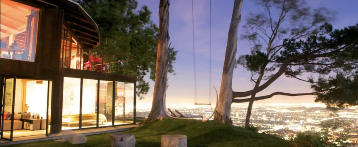 Cabin / Treehouse perched at the edge of a cliff in Los Angeles Hero Image in Central LA, Los Angeles, CA