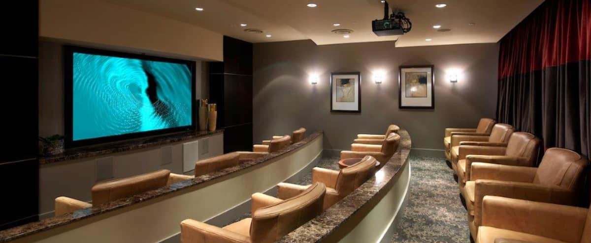 Modern Screening Room in the East Village in San Deigo Hero Image in Downtown, San Deigo, CA