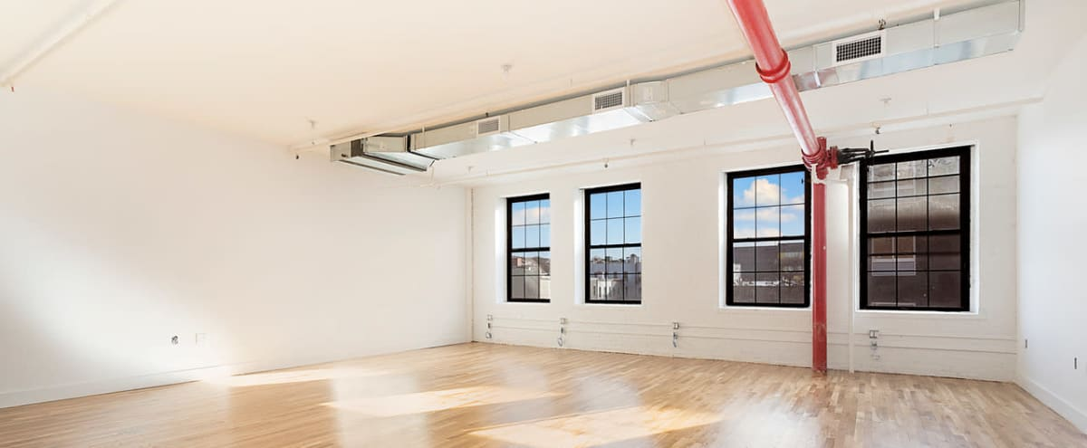 1,400 + SQFT  - Industrial Loft Office Space In Sunset Park with Tons of Natural Light & High Ceilings in BROOKLYN Hero Image in Sunset Park, BROOKLYN, NY