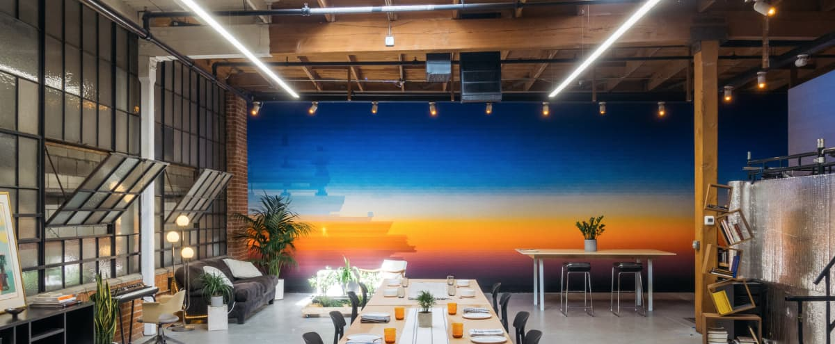 Artist's Studio with Glowing Murals in Los Angeles Hero Image in Central LA, Los Angeles, CA