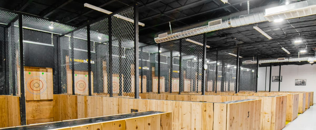 Axe Throwing Event Space Warehouse in Tempe Hero Image in undefined, Tempe, AZ