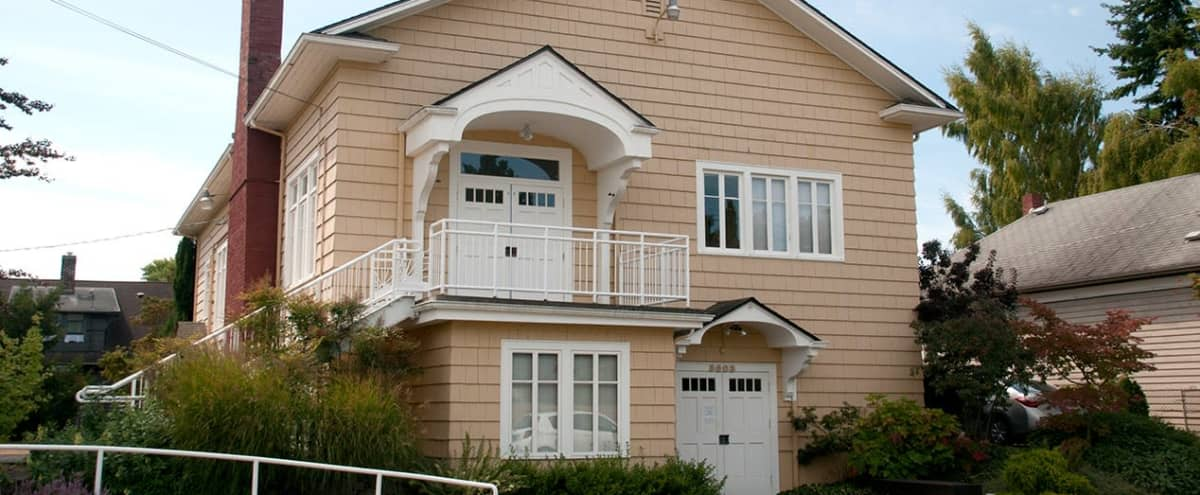 Classic, Restored Two-story Arts & Crafts–style Clubhouse (Upper Level) in SEATTLE Hero Image in Sunset Hill, SEATTLE, WA