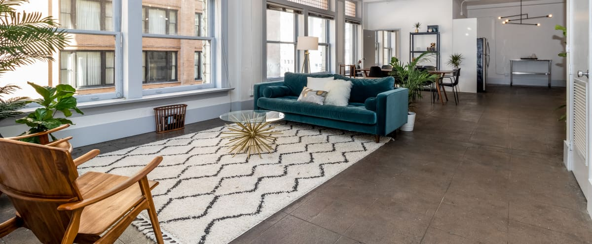 Large Downtown Midcentury Modern Loft With Natural Light in Los Angeles Hero Image in Downtown, Los Angeles, CA