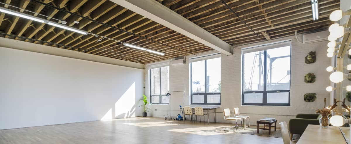 Airy Daylight/Blackout Photo Studio w/Roof & EQ in Brooklyn Hero Image in East Williamsburg, Brooklyn, NY