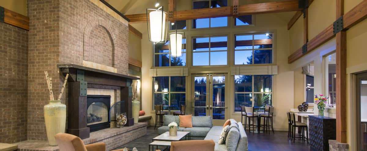 Tranquil Lounge with Outdoor Patio with Fire Pits in Mill Creek Hero Image in undefined, Mill Creek, WA