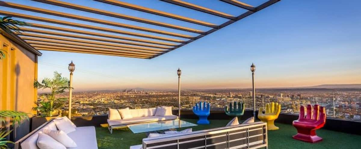 Hollywood Hills Mansion with Jetliner Views in Los Angeles Hero Image in Central LA, Los Angeles, CA