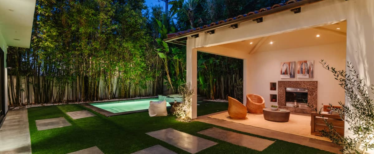 Modern Spanish-Style Villa with Recording Studio & Pool  in Beverly Grove in Los Angeles Hero Image in Central LA, Los Angeles, CA