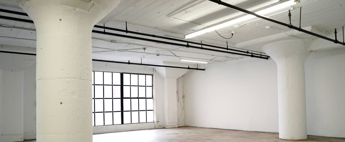 **10% off**Downtown Studio Loft With Concrete and White Wall Large Windows With Lots Of Natural Light in Los Angeles Hero Image in Central LA, Los Angeles, CA