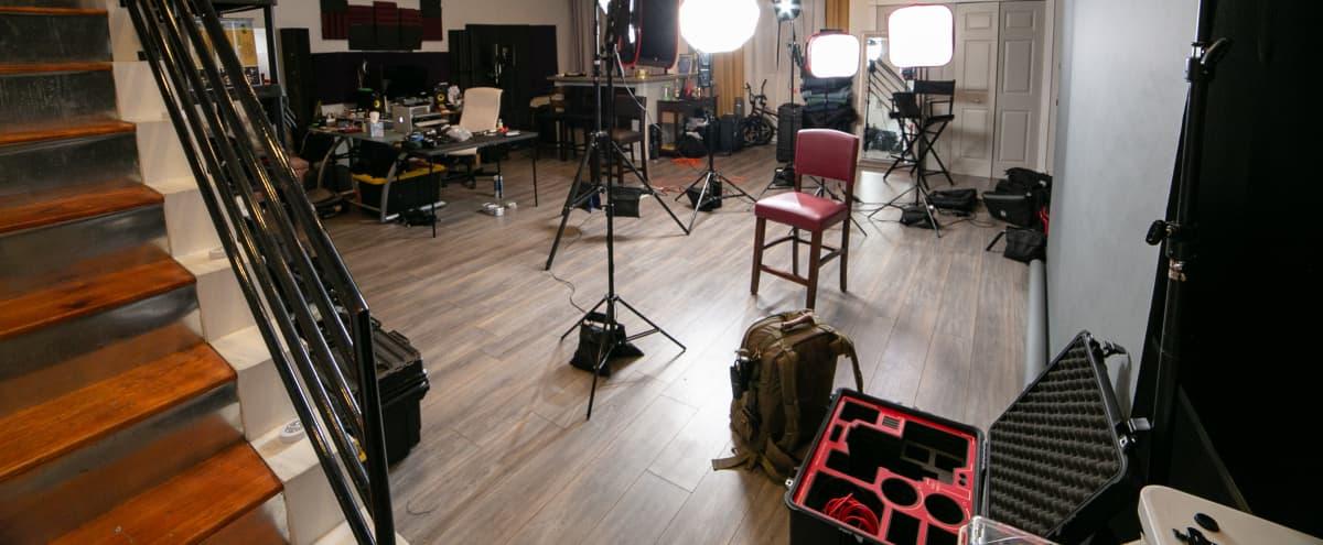 Studio with lights Located Near Deep Ellum with Private Lot in Dallas Hero Image in Old East Dallas, Dallas, TX