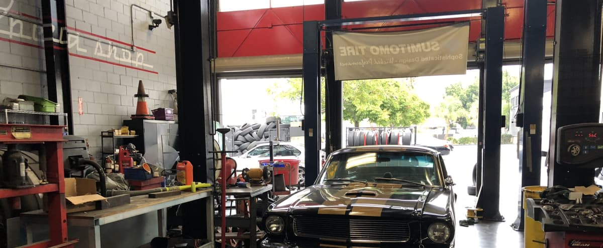 Autoshop with car lifts and huge parking lot in Culver city Hero Image in Art District, Culver city, CA