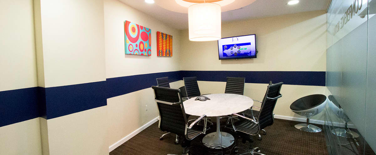 Gorgeous Meeting Room E with Oval Marble Table for up to 6 People - TS in NEW YORK Hero Image in Midtown, NEW YORK, NY