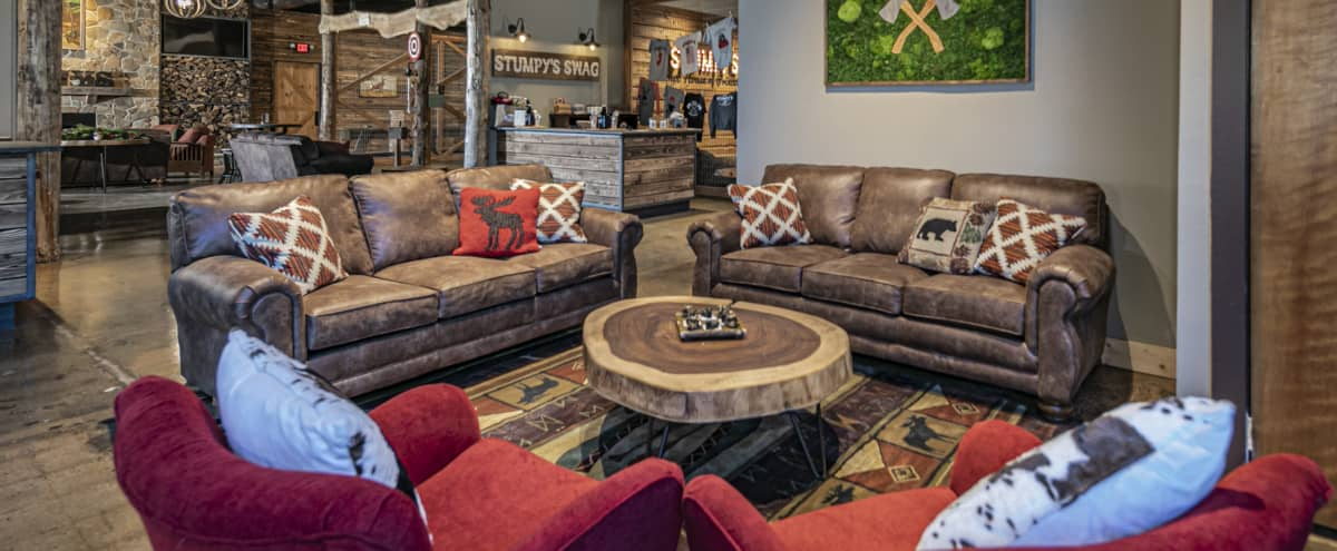 Upscale Lodge Resort Retreat with Axe Throwing Right in Princeton in Princeton Hero Image in undefined, Princeton, NJ