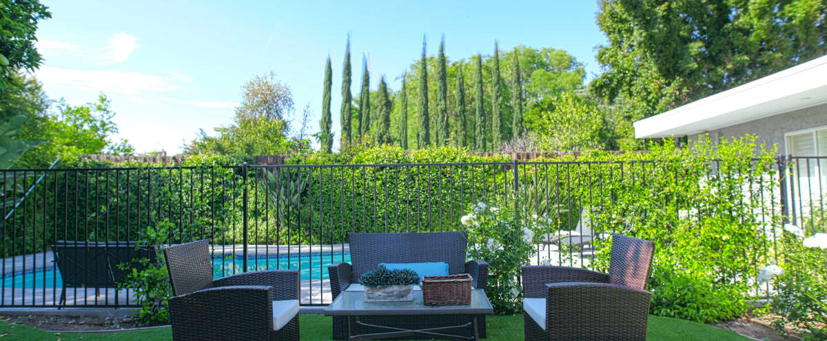 Beautiful Garden Outdoor Space with Heated Pool/Jacuzzi in Tarazana in Tarazana Hero Image in Tarzana, Tarazana, CA