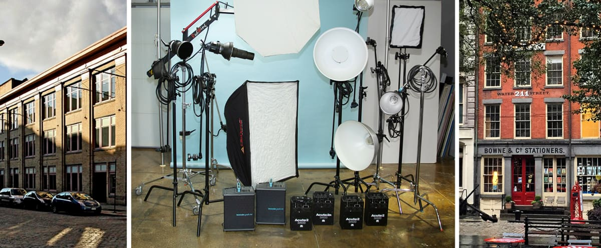 Manhattan photo studio. Lighting and grip included! Located in the historic South Street Seaport - near many outdoor shooting locations in New York Hero Image in Financial District, New York, NY