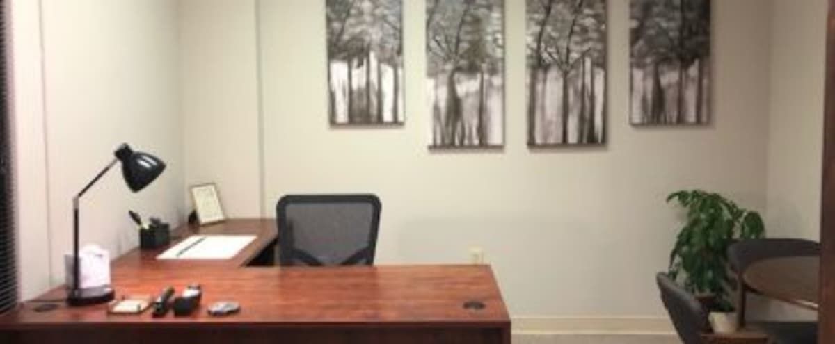 Private Office Available for Small Meetings & Interviews in Charlotte Hero Image in Carmel, Charlotte, NC