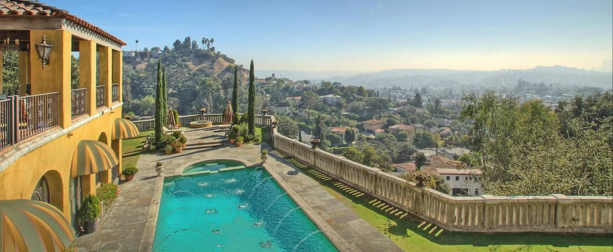 Romantic, Magical, Classic 1920s 4,500 sf Mediterranean Villa on Griffith Park with Iconic Swimming Pool & Epic Views in Los Angeles Hero Image in Los Feliz, Los Angeles, CA