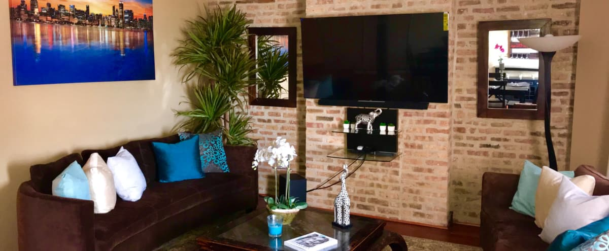 Logan Square apartment with a deck/outdoor space. in Chicago Hero Image in Logan Square, Chicago, IL