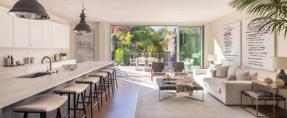 Film/Photo Location: Contemporary Home With Great Light, Large Garden and Incredible Rooftop Deck in San Francisco Hero Image in Lower Pacific Heights, San Francisco, CA