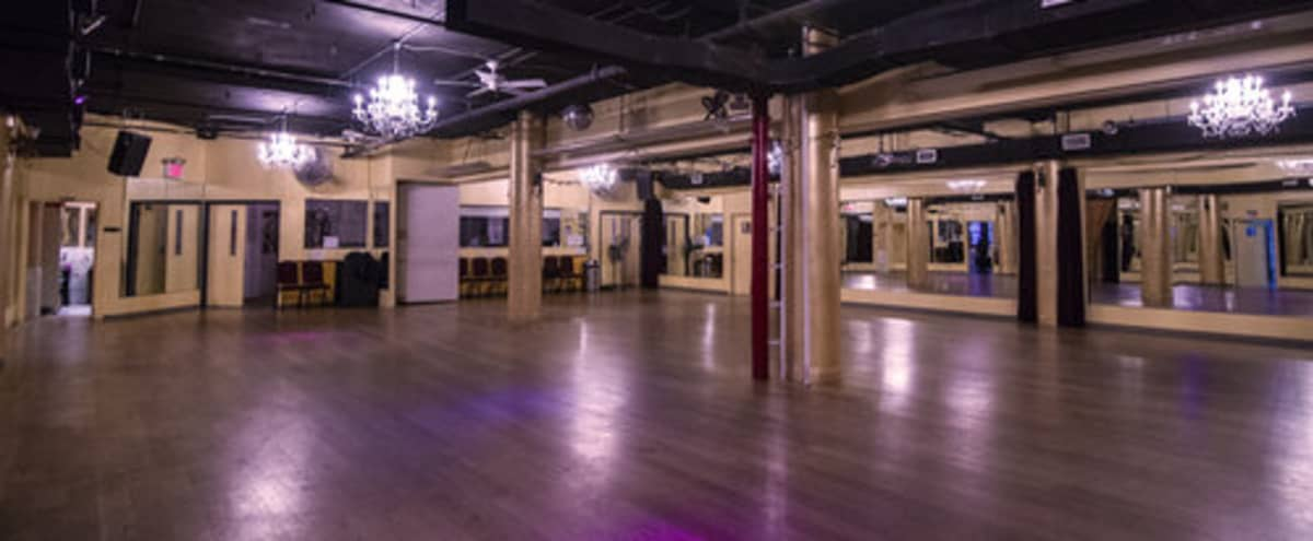 Prime Location Open Ballroom Studios for fitness, dancing, casting calls, photo shoots, meetings, lectures, etc. in New York Hero Image in Midtown, New York, NY