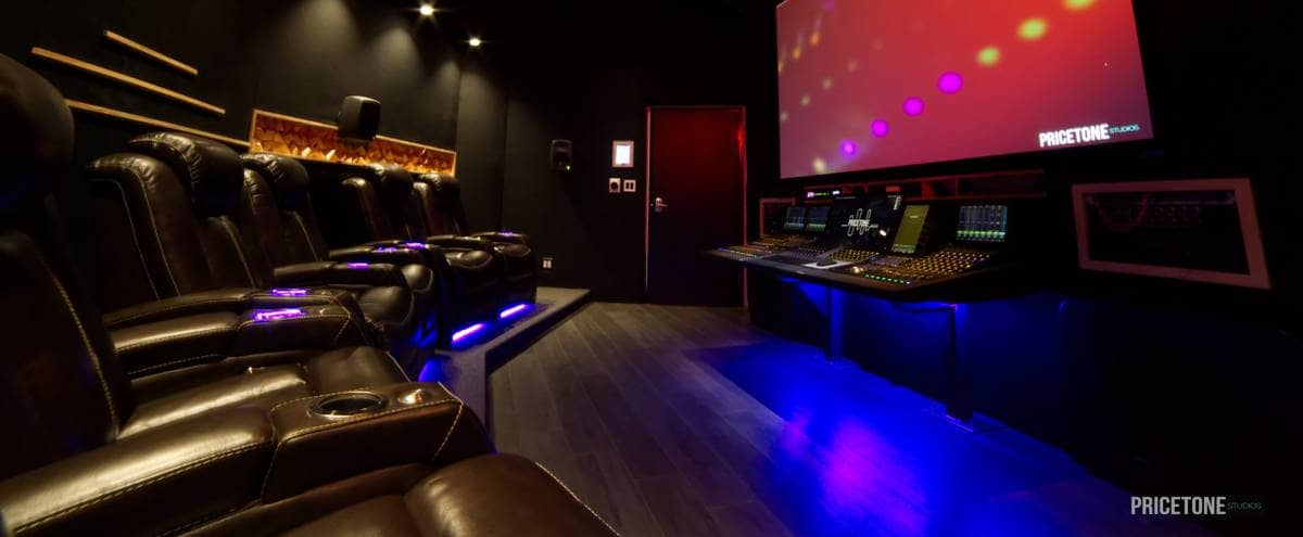 Amazing Recording Studio with Custom Lighting in Burbank Hero Image in North Hollywood, Burbank, CA
