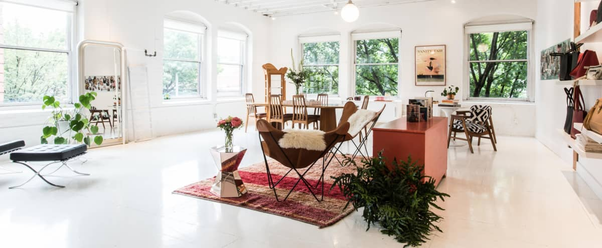 A creative daylight studio and gathering space. Perfect for brand influencers and beauty, fashion, and design related events. in Portland Hero Image in Downtown Portland, Portland, OR