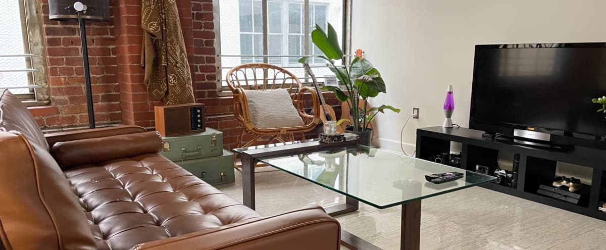 Downtown Mid Century Modern Loft w/ Private Outdoor Space in Los Angeles Hero Image in Central LA, Los Angeles, CA