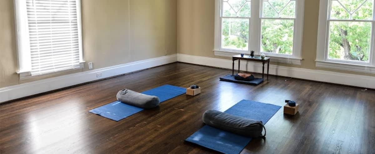 Natural Light Flushed Yoga Studio in Houston Hero Image in Montrose, Houston, TX