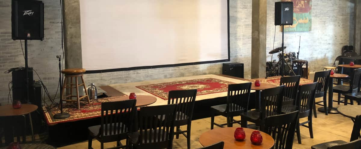 Large open space with stage, bar area, furniture in Los Angeles Hero Image in Mid-City, Los Angeles, CA