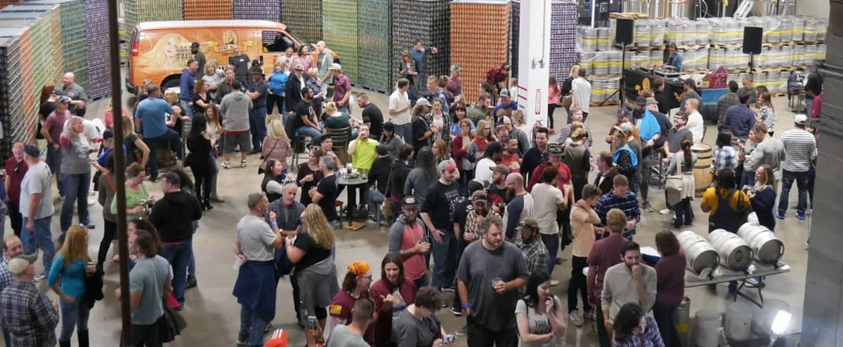 Indoor Patio Brewhouse Event Space in Aurora Hero Image in Peterson, Aurora, CO