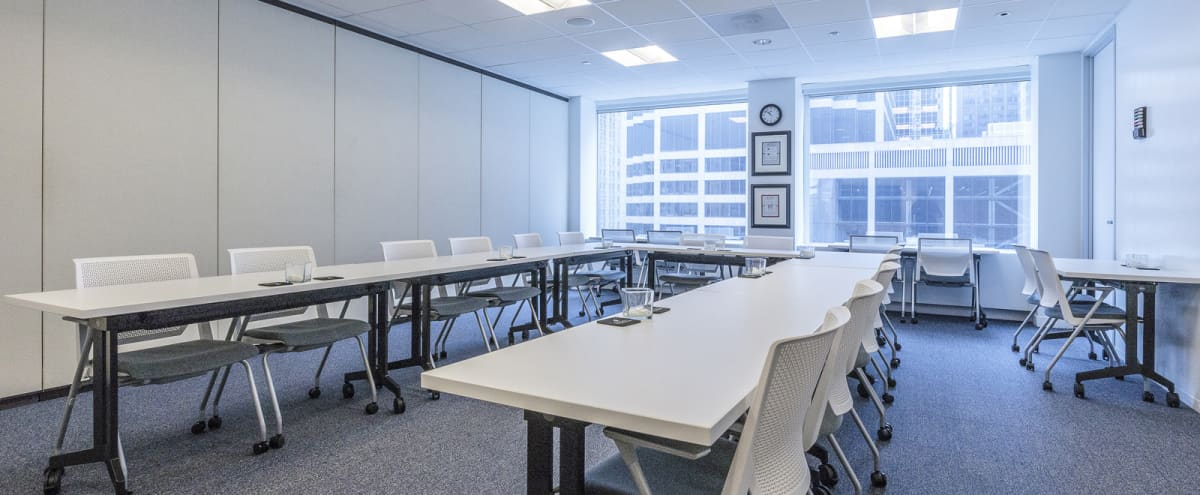 High-End Meeting Space with River Views in Chicago Hero Image in West Loop, Chicago, IL