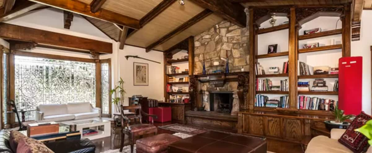 Characterful Home: Woodwork, Natural Light, Quiet Green Canyon Views, Multiple Areas in Studio City Hero Image in Studio City, Studio City, CA