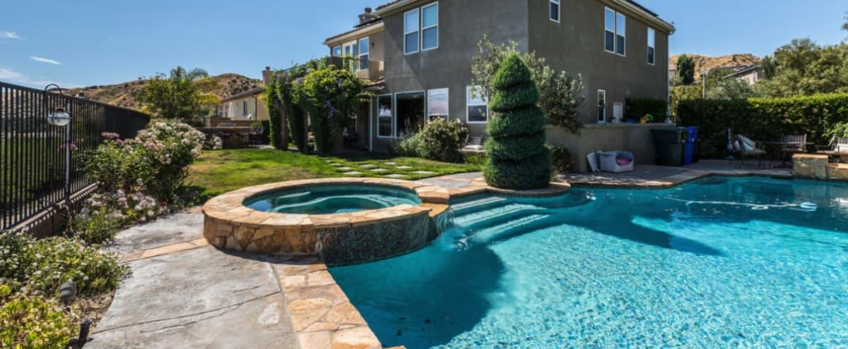 Fabulous Mediterranean Home with a View in Santa Clarita Hero Image in undefined, Santa Clarita, CA