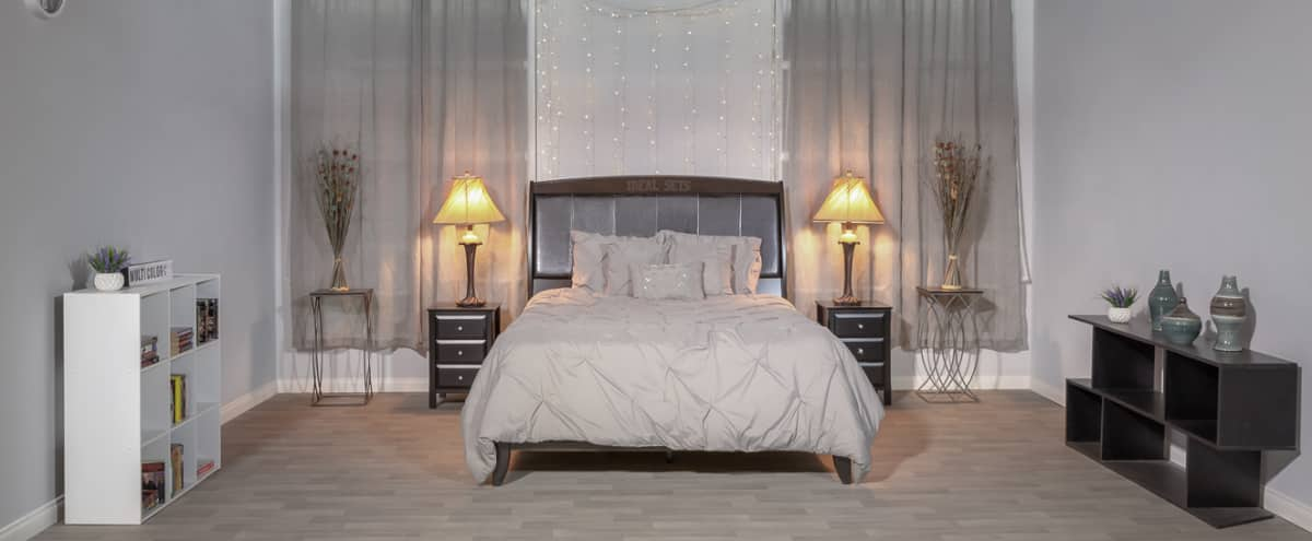 Los Angeles Film Sets Modern Bedroom Set For Tv And Production Fully Dressed In