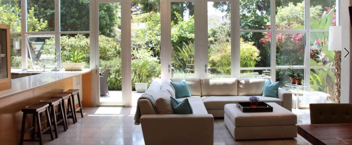 Modern Luxury, Steel Window Wall, Lush Garden & Fountains in LA Hero Image in Westdale, LA, CA