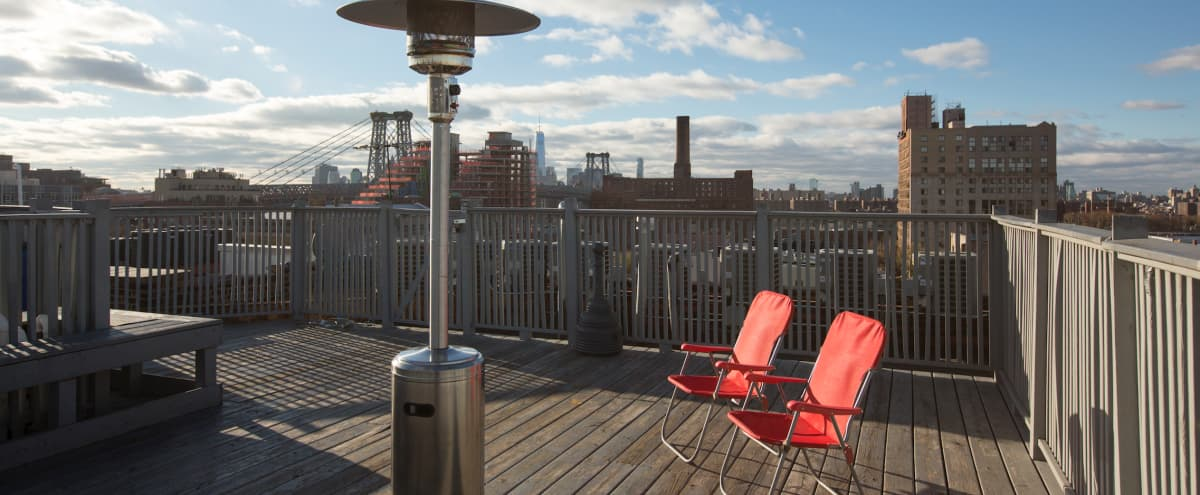 Huge Modern Apartment with Huge Roof & Near Bedford L STOP in New York Hero Image in Williamsburg, New York, NY