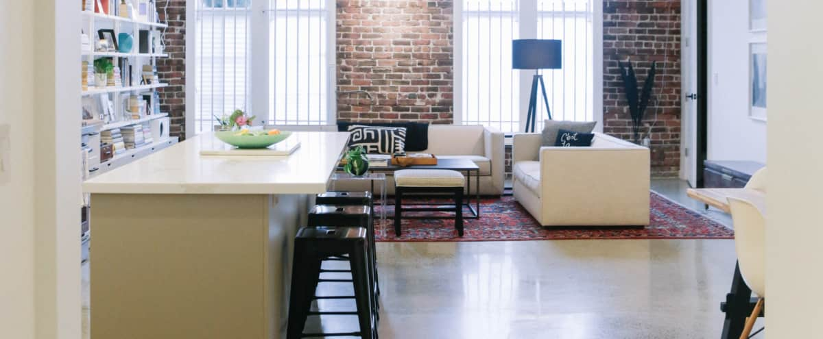 Loft with Natural Light, Brick Wall, & Kitchen in Oakland Hero Image in Hoover - Foster, Oakland, CA