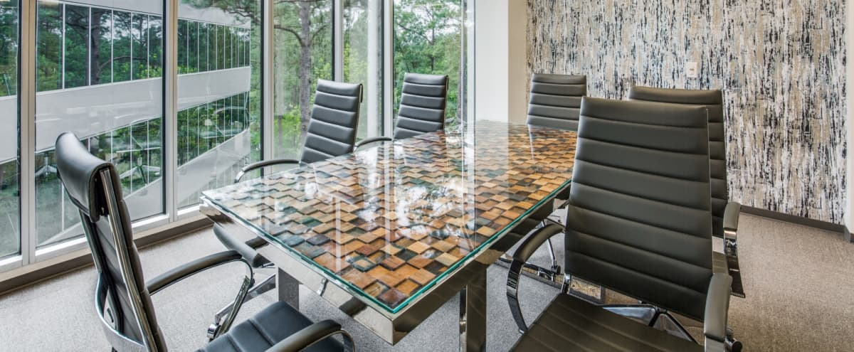 6 Person Conference Room with Elegant Decor - The Woodlands in The Woodlands Hero Image in undefined, The Woodlands, TX