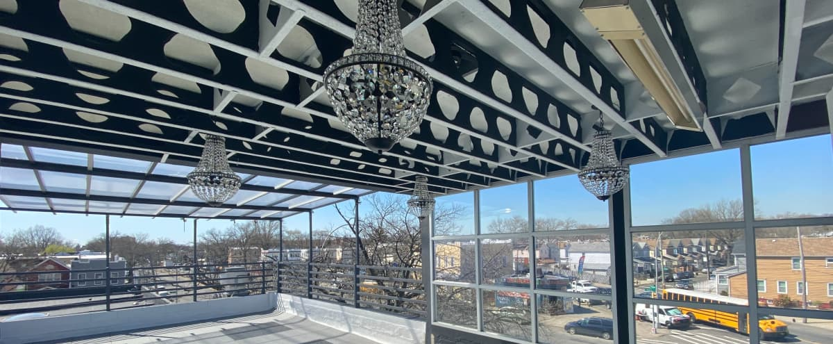 Outdoor Private Event Rooftop. in Woodhaven Hero Image in Queens, Woodhaven, NY