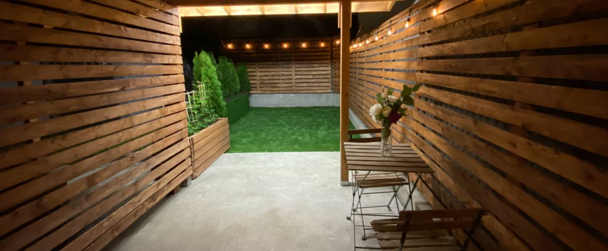 Outdoor patio and indoor dining table and cafeteria in Astoria Hero Image in Ditmars Steinway, Astoria, NY