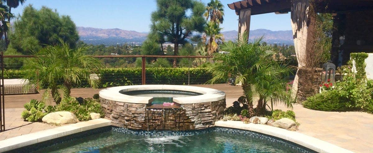 Mid-Century Modern, Bright Open Layout /Outdoor Upscale Oasis with Saltwater Pool & Phenomenal City Views in Sherman Oaks Hero Image in Sherman Oaks, Sherman Oaks, CA