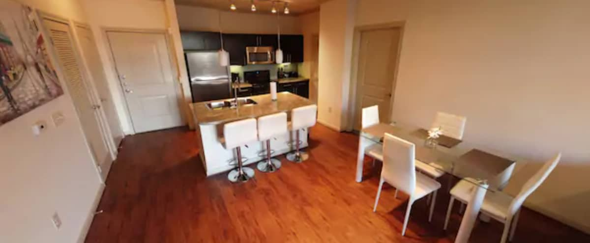 Entire Apartment with Balcony and Pool view in Houston Hero Image in South Main, Houston, TX